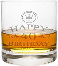 LEONARDO Whiskeyglas 40 Jahre Gravur - Geburtstag