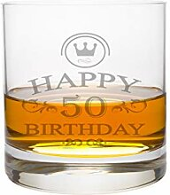 LEONARDO Whiskeyglas 50 Jahre Gravur - Geburtstag