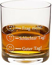 Leonardo Whiskyglas - Frag Nicht - Guter Tag