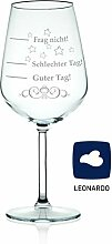 Leonardo XL Weinglas mit Gravur - Schlechter Tag,