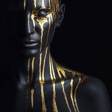 Leonique Acrylglasbild Gesichtshälfte 50x50 cm,