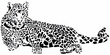 Leopard Aufdruck Entfernbar Wandtattoo Aufkleber Wandpapier Raum Deko