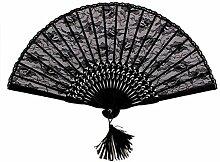 LEORX Damen Lace Flower, faltbar, Mini-Ventilator