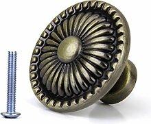 LEORX Möbelknauf, Möbelgriff, Türknöpfe, Vintage Schublade Schrank ziehen Sie Griff Knopf (Bronze)
