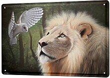 LEotiE SINCE 2004 Blechschild XXL Küche Löwe und