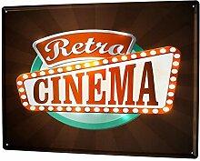 LEotiE SINCE 2004 Blechschild XXL Küche Retro Kino
