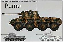 LEotiE SINCE 2004 Fliese Kachel Waffe Panzer Puma