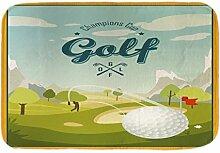LEotiE SINCE 2004 Fuß Hunde Matte Bett Fun Golf Bedruckt 40x60 cm