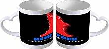 LEotiE SINCE 2004 Kaffeetasse mit Herzgriff