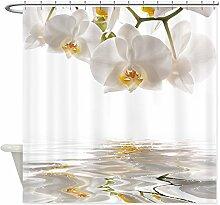 Lepo weiß Orchideen Vorhang für die Dusche für