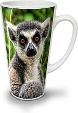 Lepricaun Foto Tier Weiß Keramisch Latte Becher 17 oz | Wellcoda