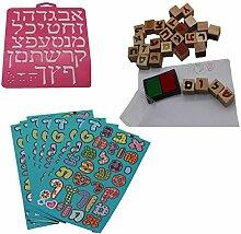 Lernen hebräisch DIY Kit Schablone Kennzeichen