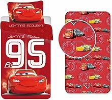 LesAccessoires Disney Cars Bettwäsche, 3-teilig,