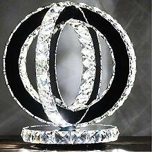 &Leselicht Moderne Led Kristall Schreibtischlampe,