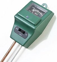 LESHP 3 in 1 Boden Wasser Feuchtigkeit, PH Tester Licht Test Meter für Garten Pflanze Blume