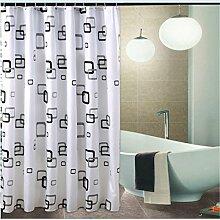 LESOLEIL Duschvorhänge PEVA Duschvorhang Duschvorhanghaken Uni Anti-Schimmel/Anti-Bakteriell Badezimmer Vorhang mit Haken 180 x 200 cm