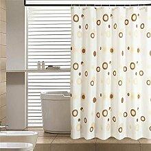 LESOLEIL Duschvorhänge Polyestergarn Duschvorhang Duschvorhanghaken Uni Anti-Schimmel/Anti-Bakteriell Badezimmer Vorhang mit Haken 180 x 200 cm