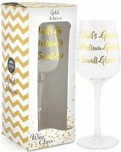 Lesser & Pavey Dad 's Wein Glas, Gold