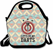 Let's Play Darts With Dartboard Lunch Bag