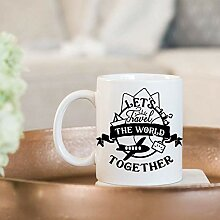 Let's Travel The World Together Coffee Mug