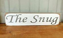 Letitia48Maud die Snug–Vintage Schild