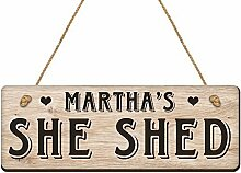 Letitia48Maud Personalisierbar Sie Shed Holzschild