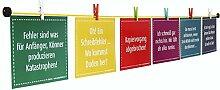 LeTOMA – 100 cm gelbe Fotoleine mit 8 bunten Mini-Holz-Klammern – Das Fotoseil kann leicht an jeder Wand befestigt werden: horizontal, vertikal und diagonal