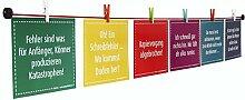 LeTOMA – 100 cm rote Fotoleine mit 8 bunten Mini-Holz-Klammern – Das Fotoseil kann leicht an jeder Wand befestigt werden: horizontal, vertikal und diagonal