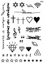 Letter Diamond wasserdichter Tattoo-Aufkleber
