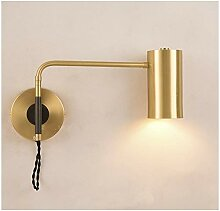 Leuchte, Wandleuchte, Kupfer LED Wandlampe