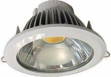 LeuchTek LED Einbaustrahler, Aluminium, Weiß, One