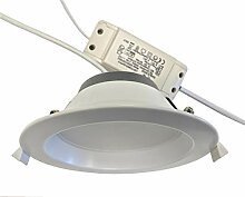 LeuchTek LED Einbaustrahler, Kunststoff, Weiß,
