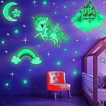 Leuchtende Sterne, leuchtende Einhorn-Sets mit