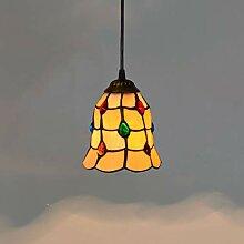 Leuchter Tiffany-Stil Pendelleuchte, 6 Zoll gelbes