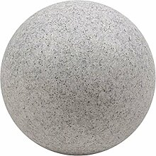 Leuchtkugel MOND granitgrau, D 60cm - (37274)