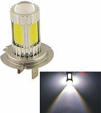 Leuchtmittel, carkingtm Fahrzeug Auto 25W H7COB LED Nebel Scheinwerfer Lampe bulb-white (12V 1Stück) (Farbe: Silber)