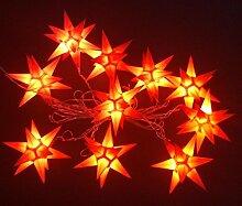 Leuchtsterne StarLED Lichterkette 10er Set ro