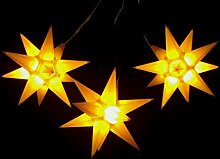 Leuchtsterne StarLED Lichterkette 3er Set gelb