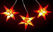 Leuchtsterne StarLED Lichterkette 3er Set ro