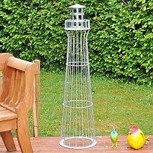Leuchtturm 1,35m, 135cm Höhe, Gambione, Garten-Dekoration,verzinkt, Vollverzinkt, Kunstwerk! .