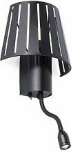 Leuchtturm 29963–Mix Lampe Wandleuchte mit LED-Kartenleser, Schwarz