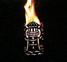 Leuchtturm Fackel - Set mit Stiel und Brennmitteln