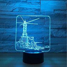 Leuchtturm Modell 3D Led Nachtlicht 7 Farbwechsel