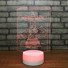 Leuchtturm Modell Riss Optische Täuschung Lampe