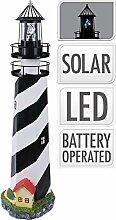 Leuchtturm Nordsee Maritim Solar-Lampe LED
