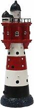 Leuchtturm Roter Sand ca 34 cm mit Leuchtfeuer