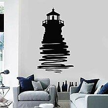 Leuchtturm Wachtturm Kunst Aufkleber Silhouette