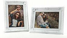 levandeo 2er Set Bilderrahmen Weiß für je 1 Foto