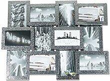 levandeo Bilderrahmen Aluminium Silber 12 Fotos
