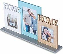 levandeo Bilderrahmen Aufsteller Holz Home 3 Fotos